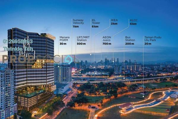 Serviced Residence For Sale in Parc 3, Cheras Freehold Semi Furnished 2R/2B 581k