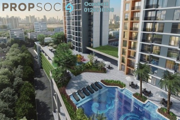 Condominium For Sale in Glomac Centro, Bandar Utama Freehold Semi Furnished 2R/1B 290k