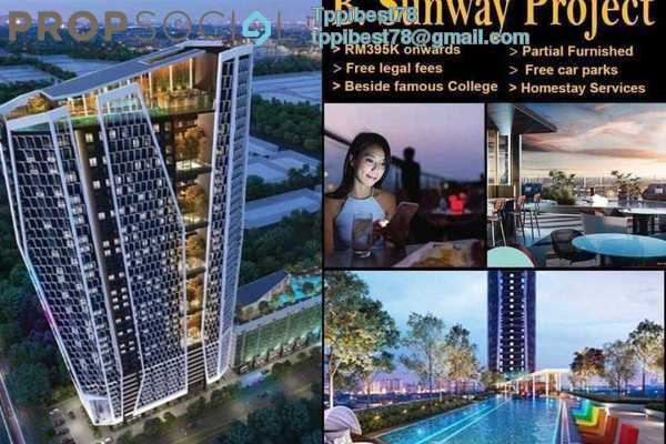 SoHo/Studio For Sale in Sunway Mentari, Bandar Sunway Leasehold Semi Furnished 1R/1B 395k