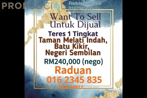 Terrace For Sale in Kawasan Perusahaan Dioh, Kuala Pilah Freehold Unfurnished 3R/2B 240k