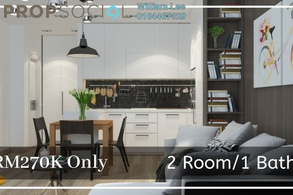 Condominium For Sale in PJ Trade Centre, Damansara Perdana Leasehold Fully Furnished 2R/1B 270k