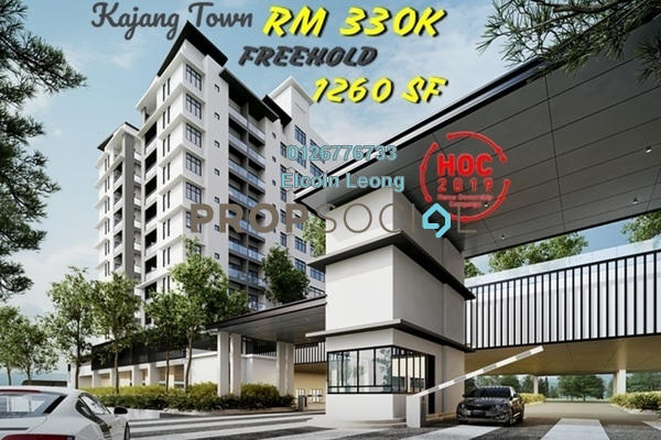 Condominium For Sale in Taman Kajang Mewah, Kajang Freehold semi_furnished 4R/2B 330k