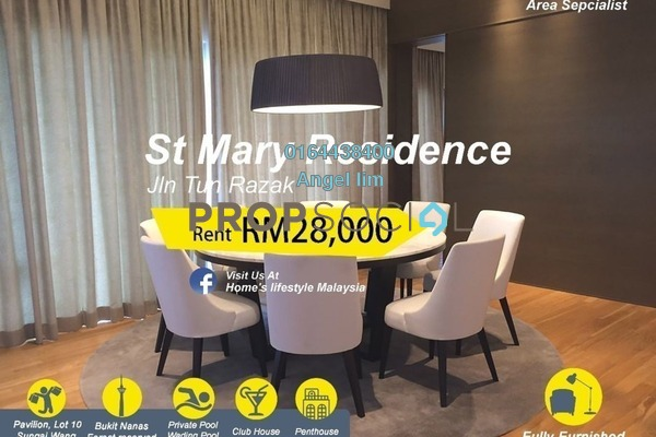 Condominium For Rent in St Mary Residences, KLCC Freehold Fully Furnished 6R/6B 28k