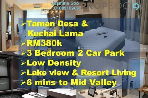Condominium For Sale in Sri Desa, Kuchai Lama Leasehold Unfurnished 3R/2B 380k