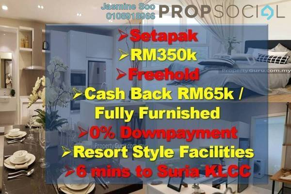 Condominium For Sale in Rampai Business Park, Setapak Freehold Fully Furnished 3R/2B 450k