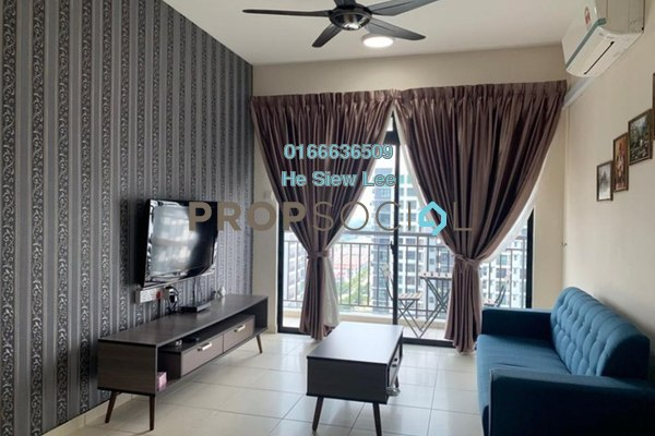Apartment For Rent in The Garden Residences, Skudai Leasehold Fully Furnished 1R/1B 280k