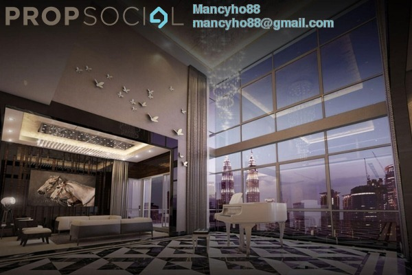 Condominium For Sale in The Manor, KLCC Freehold Semi Furnished 3R/2B 1.6m