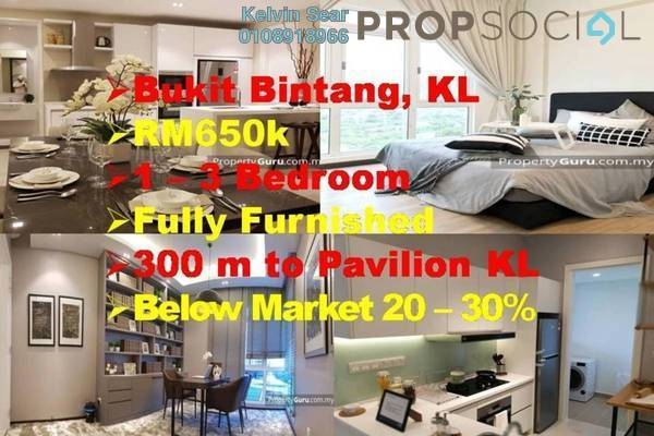 For Sale Condominium at Axon, Bukit Bintang Freehold Fully Furnished 1R/1B 650k