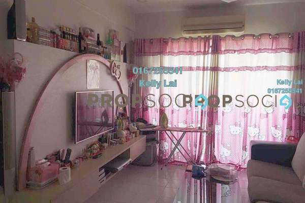 Condominium For Sale in Ixora Apartment, Kepong Freehold Fully Furnished 3R/2B 320k
