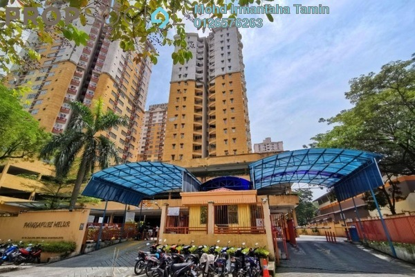 Apartment For Sale in Melur Apartment, Sentul Freehold Semi Furnished 3R/2B 360k