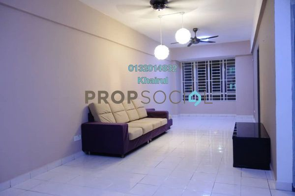 Apartment For Sale in Palm Garden Apartment, Klang Freehold Fully Furnished 3R/2B 286k