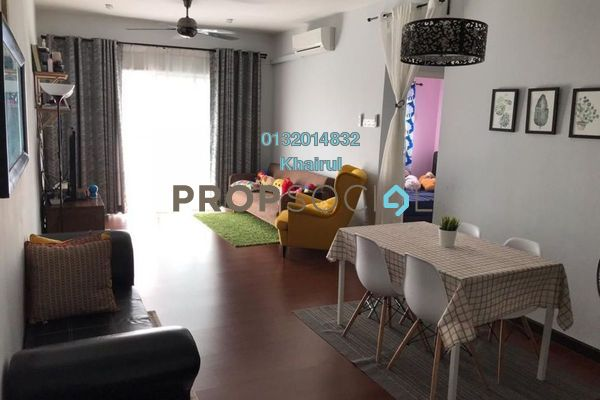 Condominium For Sale in Kristal Heights, Shah Alam Freehold Semi Furnished 3R/2B 410k