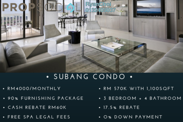 Serviced Residence For Sale in Taman Subang Murni, Subang Freehold Fully Furnished 3R/4B 570k