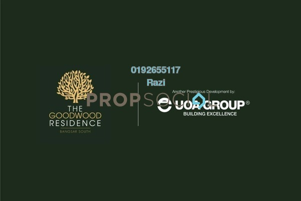 For Sale Serviced Residence at The Goodwood Residence, Bangsar South Leasehold Semi Furnished 3R/2B 700k