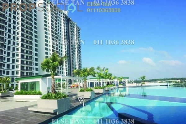 Condominium For Sale in D'Secret Garden, Johor Bahru Freehold Semi Furnished 3R/2B 298k