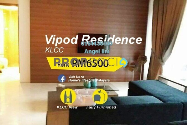 Condominium For Rent in Vipod Suites, KLCC Freehold Fully Furnished 3R/2B 6.5k