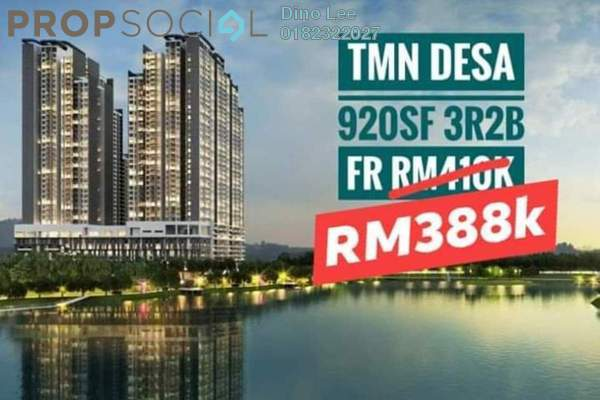 Condominium For Sale in The Hipster, Taman Desa Leasehold Unfurnished 3R/2B 388k
