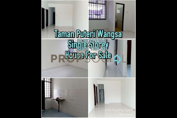 Terrace For Sale in Taman Puteri Wangsa, Ulu Tiram Freehold Unfurnished 3R/2B 365k