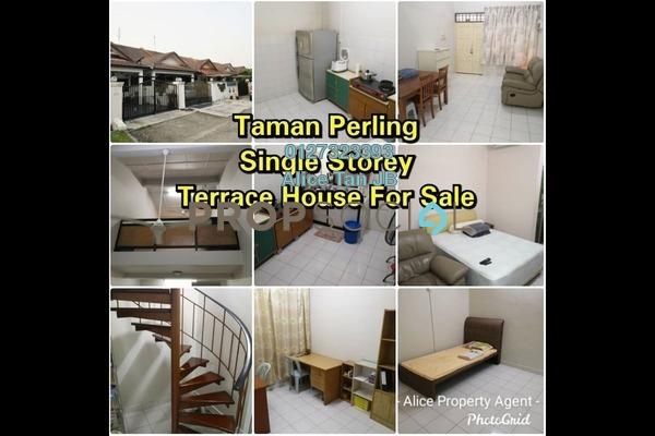 Terrace For Sale in Taman Perling, Iskandar Puteri (Nusajaya) Freehold Semi Furnished 3R/2B 460k
