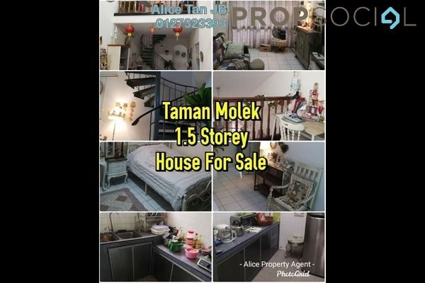 Terrace For Sale in Taman Molek, Johor Bahru Freehold Semi Furnished 3R/2B 430k