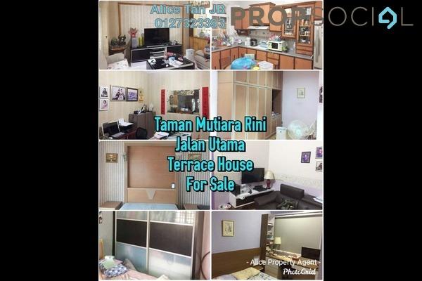 Terrace For Sale in Taman Mutiara Rini, Skudai Freehold Semi Furnished 4R/3B 588k