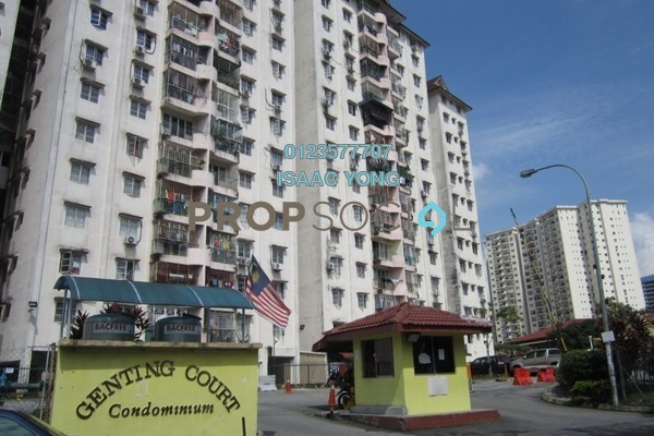For Sale Condominium at Genting Court, Setapak Freehold Semi Furnished 3R/2B 238k