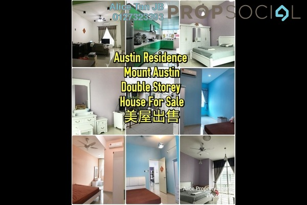 Terrace For Sale in Taman Mount Austin, Tebrau Freehold Fully Furnished 4R/4B 699k