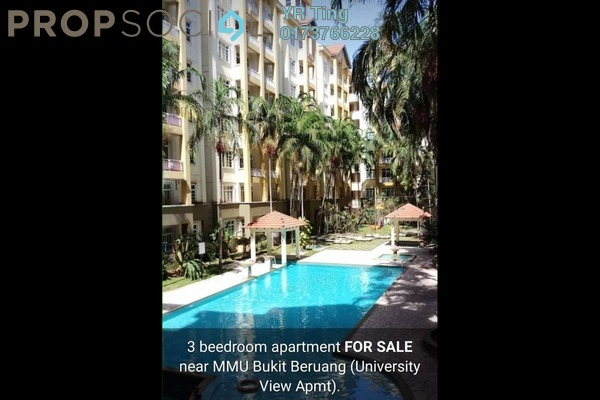 Apartment For Sale in Pangsapuri Bukit Beruang Utama, Bukit Beruang Freehold Semi Furnished 3R/1B 280k