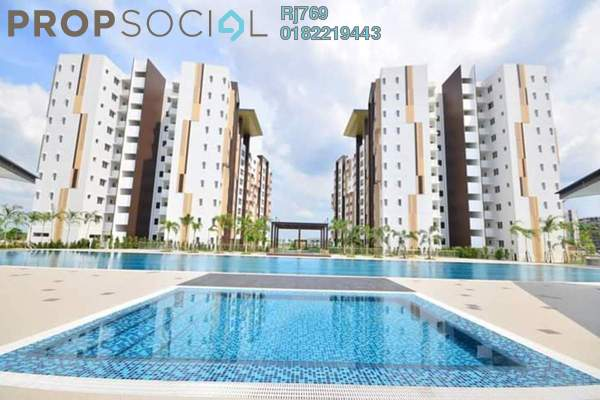 For Sale Apartment at Seri Mutiara, Setia Alam Freehold Semi Furnished 3R/2B 325k