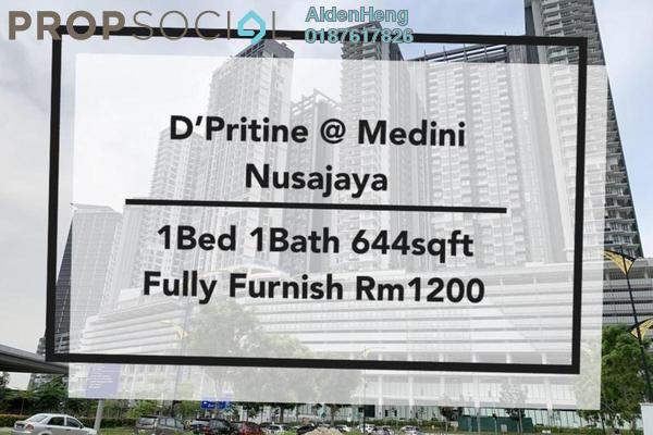 Condominium For Rent in D'Pristine, Medini Freehold Fully Furnished 1R/1B 1.2k