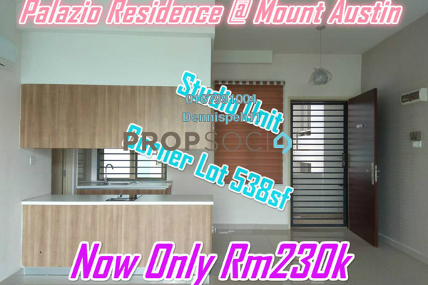 Serviced Residence For Sale in Palazio, Tebrau Freehold Unfurnished 1R/1B 230k