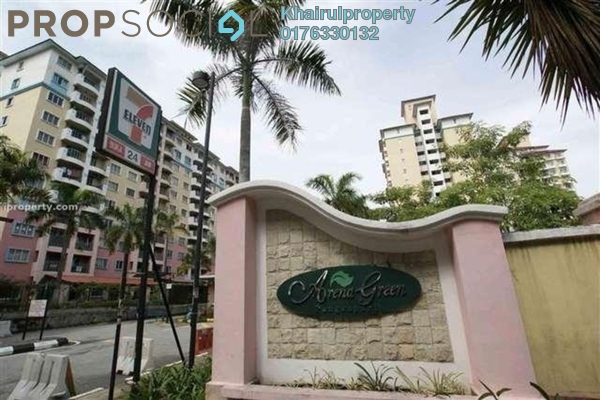 Apartment For Rent in Arena Green, Bukit Jalil Freehold Unfurnished 2R/2B 1.5k