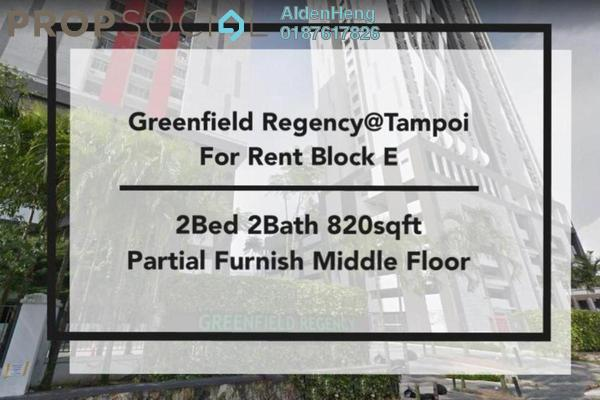 Condominium For Rent in Greenfield Regency, Skudai Freehold Semi Furnished 2R/2B 1.2k