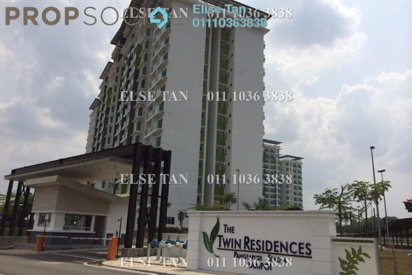 Condominium For Sale in The Twin Residences, Johor Bahru Freehold Semi Furnished 3R/2B 288k