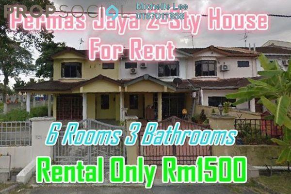Terrace For Rent in Permas 11, Bandar Baru Permas Jaya Freehold Unfurnished 6R/3B 1.5k