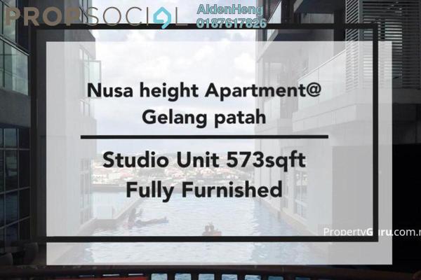 Condominium For Rent in Nusa Heights, Iskandar Puteri (Nusajaya) Freehold Fully Furnished 1R/1B 1.1k