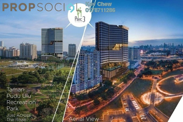Condominium For Sale in Parc 3, Cheras Freehold Semi Furnished 3R/2B 490k