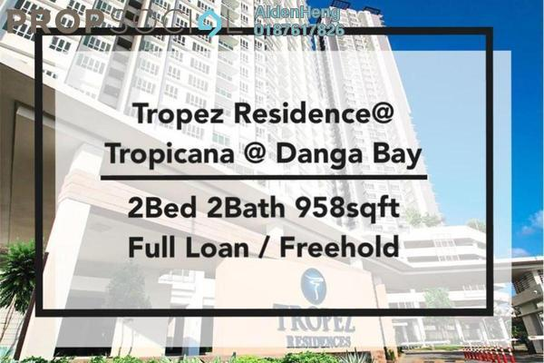 Condominium For Sale in Tropez Residences, Danga Bay Freehold Fully Furnished 2R/2B 510k