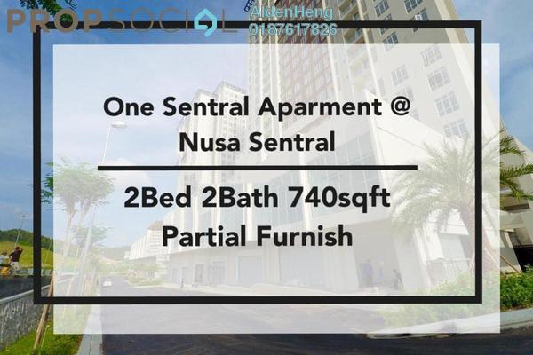 Condominium For Rent in One Sentral, Iskandar Puteri (Nusajaya) Freehold Semi Furnished 2R/2B 1.3k