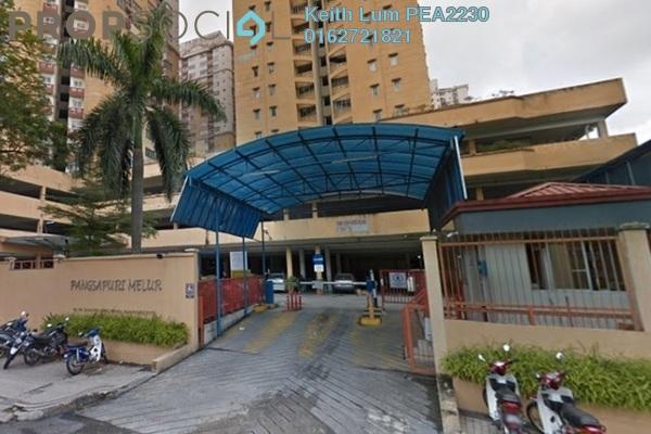 Condominium For Sale in Melur Apartment, Sentul Freehold Semi Furnished 3R/2B 365k