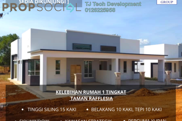 Semi-Detached For Sale in Taman Rafflesia, Pendang Freehold Unfurnished 3R/2B 338k