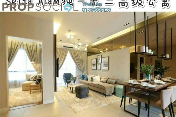Condominium For Sale in Sunsuria 7th Avenue, Setia Alam Freehold Semi Furnished 3R/2B 500k