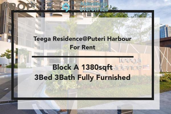Condominium For Rent in Teega, Puteri Harbour Freehold Fully Furnished 3R/3B 3k