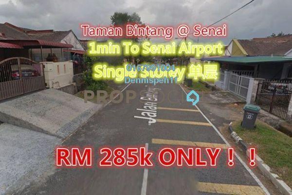 Terrace For Sale in Taman Bintang Utama, Senai Freehold Unfurnished 3R/2B 285k
