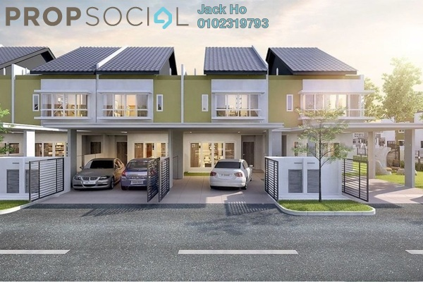 Terrace For Sale in Sena Parc Homes, Senawang Freehold Unfurnished 4R/3B 524k