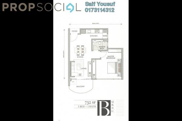 Serviced Residence For Sale in Senada Residences @ KLGCC Resort, Damansara Heights Freehold Unfurnished 1R/1B 925k