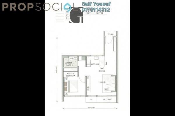 Serviced Residence For Sale in Senada Residences @ KLGCC Resort, Damansara Heights Freehold Unfurnished 1R/1B 927k