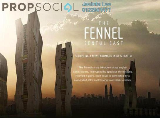 Condominium For Sale in The Fennel, Sentul Freehold Semi Furnished 3R/2B 624k