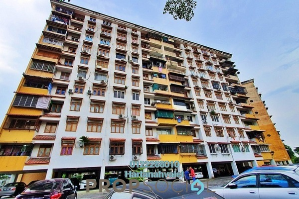 Apartment For Sale in Dahlia Apartment, Pandan Indah Freehold Unfurnished 3R/2B 330k