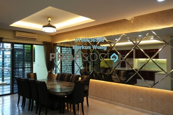 Superlink For Sale in Taman Esplanad, Bukit Jalil Freehold Semi Furnished 5R/4B 1.9m